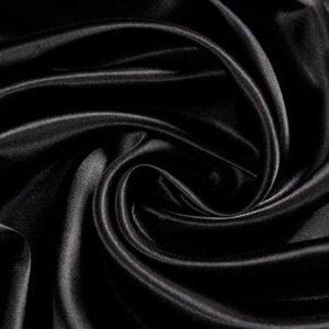 Satijnen stof zwart 150*100cm