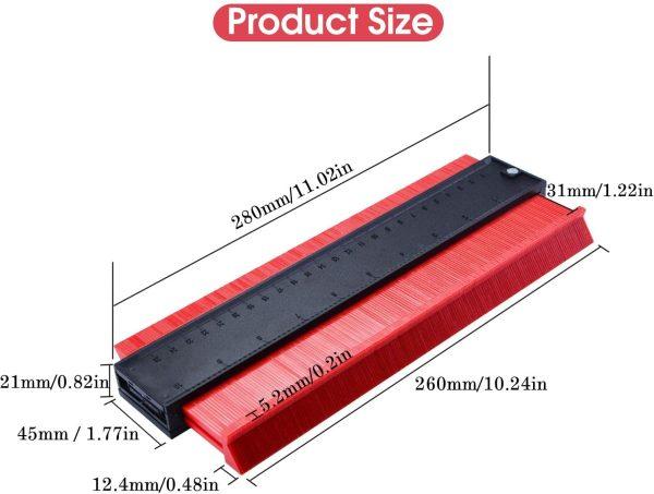 Contourleer rood 25cm