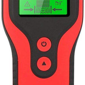 Goodtimera Wandscanner, detector, stud zoeker, leidingzoeker met LCD-display voor metaal, buizen, hout, stroomleiding, AC-spanningsvoerende scannerdetector